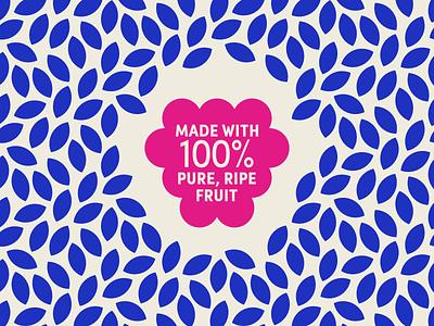 Feelin' Fruity packaging fruit vector illustration icon design logo pattern natural berry blackberry branding badge