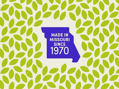 Missouri Made icon vector natural fresh state logo branding badge pattern leaves missouri