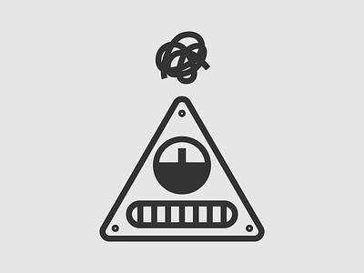 AnxieT-9000 - Warmup #6 dribbbleweeklywarmup oofa-doofa stress anxiety triangle character illustration robot