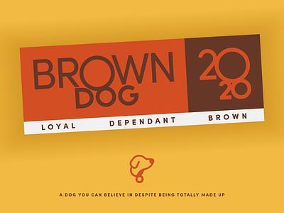 Brown Dog 2020 - Warmup #7 typography design branding illustration logo vector icon badge sticker campaign logo brown president collar dog dribbbleweeklywarmup