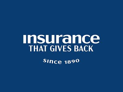 Insurance That Gives Back insurance icon design badge branding logo