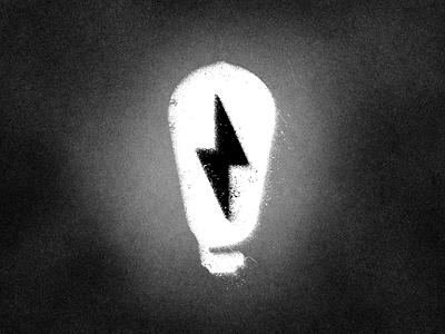 Bad Idea branding illustration vector design lightning light grunge graphic logo lightbulb
