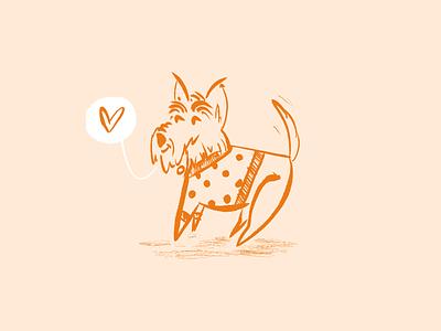 Sweater Winston - Warmup #12 sketch drawing dribbbleweeklywarmup design illustration dog scottie scottish terrier