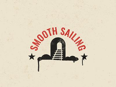 Smooth Sailing badges type typography icon vector logo design branding illustration badge kansas city train railroad