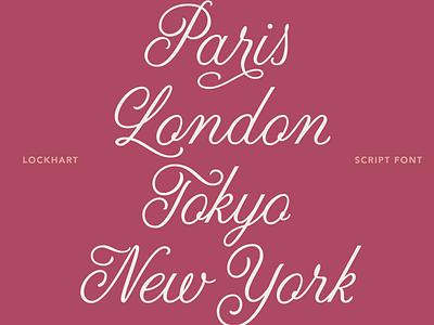 Lockhart Close Up wedding formal cursive typeface font design type script lettering hand lettering calligraphy