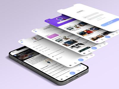 UX Design - Online Courses app icon ux logo ui vector typography illustration design branding app