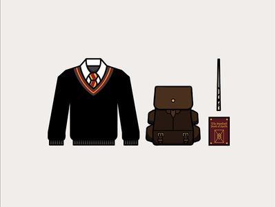 Gryffindor vector gryffindor harry potter icons illustrations