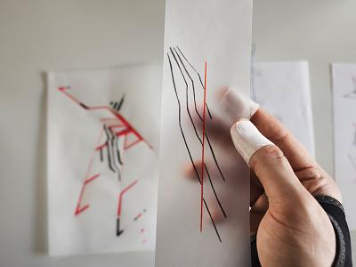 Estranged Work In Process experimental art design drawing illustration