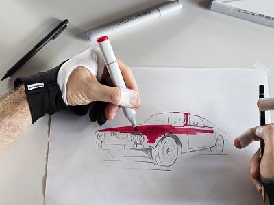 Car And Driver - Alpha Romeo alpharomeo drawing illustration caranddriver