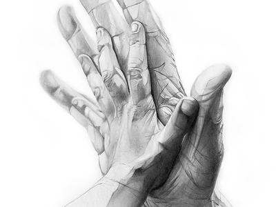 Derwent future hands grey illustration artwork sketch pencil drawing