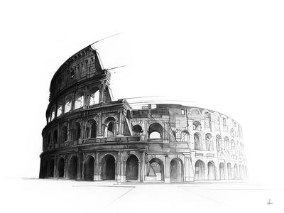 The Colosseum drawing pencil derwent architecture colosseum