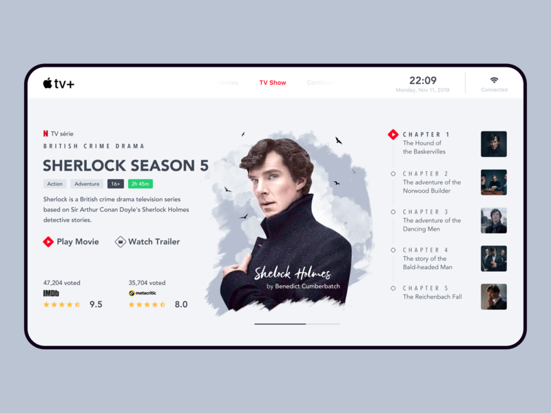 Tv App website ux ui ui design minimalist minimal web design web daily 100 challenge daily ui tv app