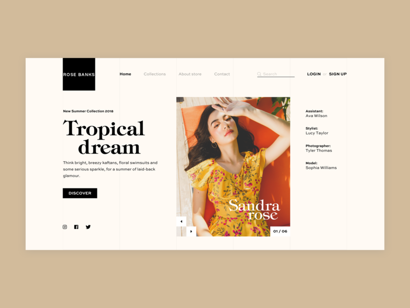 Fashion Web - Tropical Dream tropical dream ui web fashion web design web