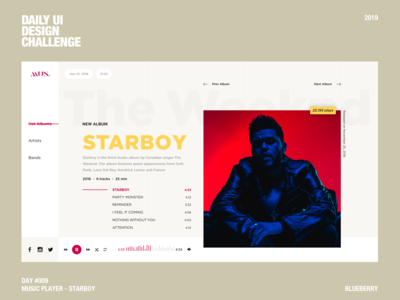 Music Player - Starboy