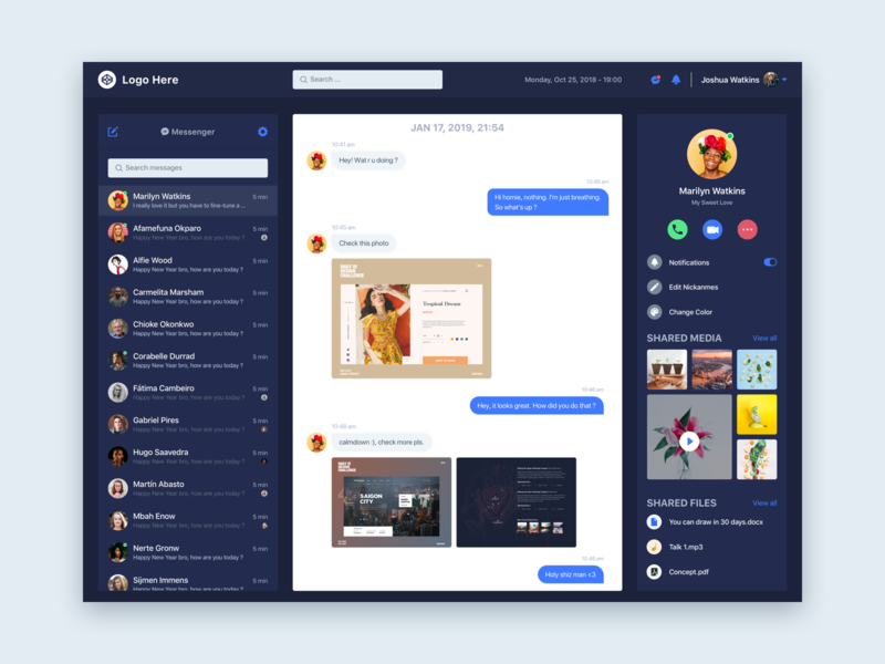 Daily Ui / Day 13 - Direct Messaging web ui design web ui design day 13 100 days ui challenge web design interaction design web dribbble daily 100 challenge daily ui
