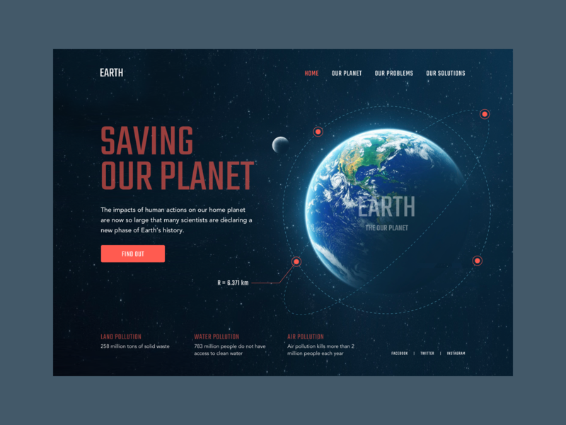 Web - Saving Our Planet web ui uidesign web design interaction design daily 100 challenge daily ui