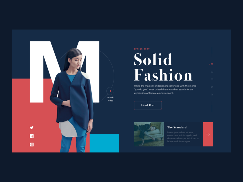 Fashion page ux ui design ui web design web daily ui daily 100 challenge fashion