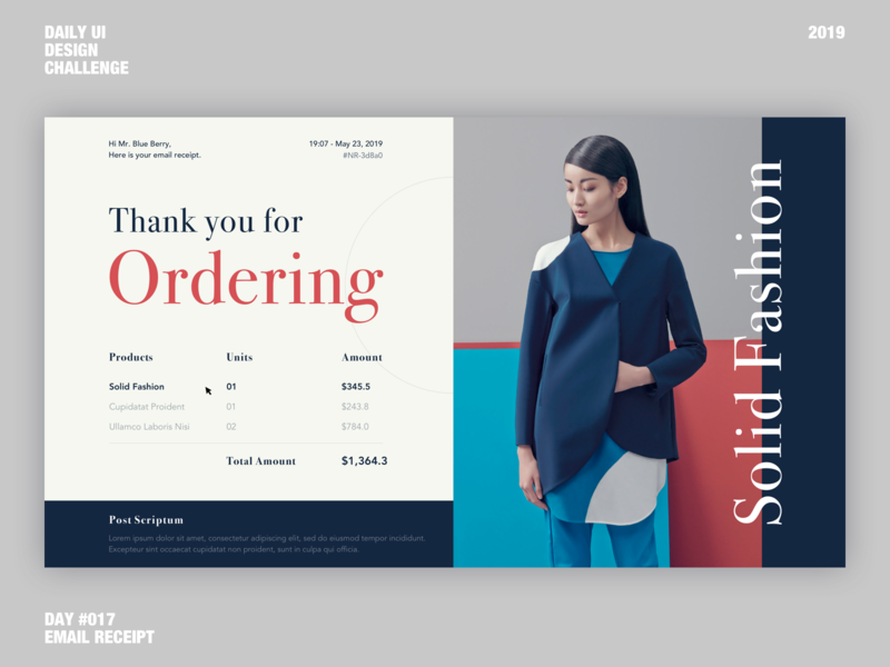 Day 17 -  Email Receipt daily 17 app design email receipt popular design ui dribbble web design web daily 100 challenge daily ui