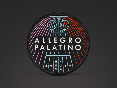 Spoocha - Allegro Palatino Patch 2019 madeingermany ruhrarea ruhrgebiet bochum cycling merchandise design merchandise merch patches patchgame patch design patch