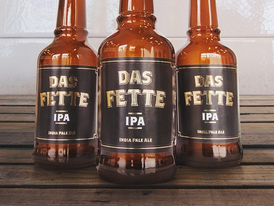 Das Fette IPA package beer beerdesign design productdesign product design bottle ipa india pale ale beverage alcohol branding