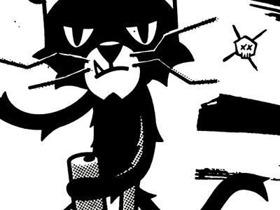 Filthy Cat halftone screenprint texture shirt-design beer animals illustration cat
