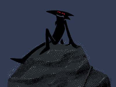 Stoned Rabenmann procreate character design character dark animal illustration crow raven rabenmann