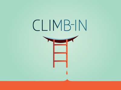 Climb-In corporate climb ladder fangs sinister logo type
