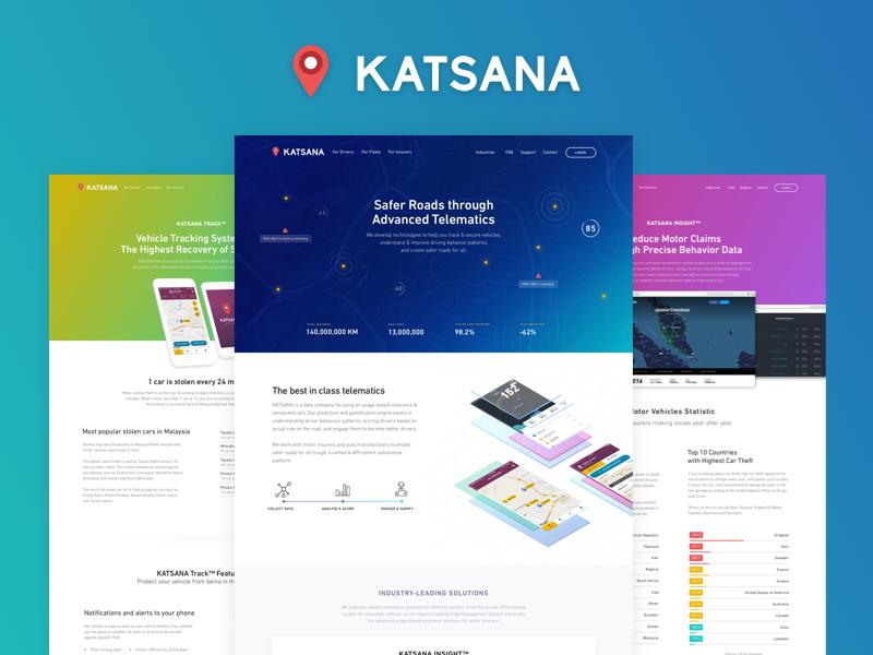 KATSANA Website by Ghulam Rusli for KATSANA on Dribbble