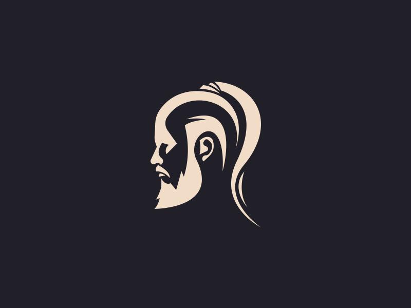 Viking logo man vikings