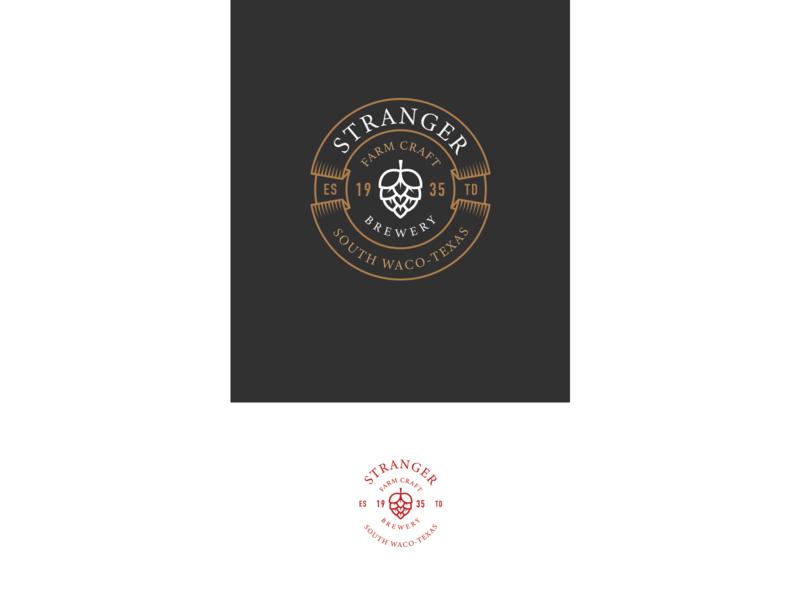 Stranger Brewery brewery vintage logo typography vector