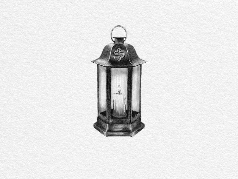 Hand drawing vector lantern vintage illustration print lantern vectorart hand drawn