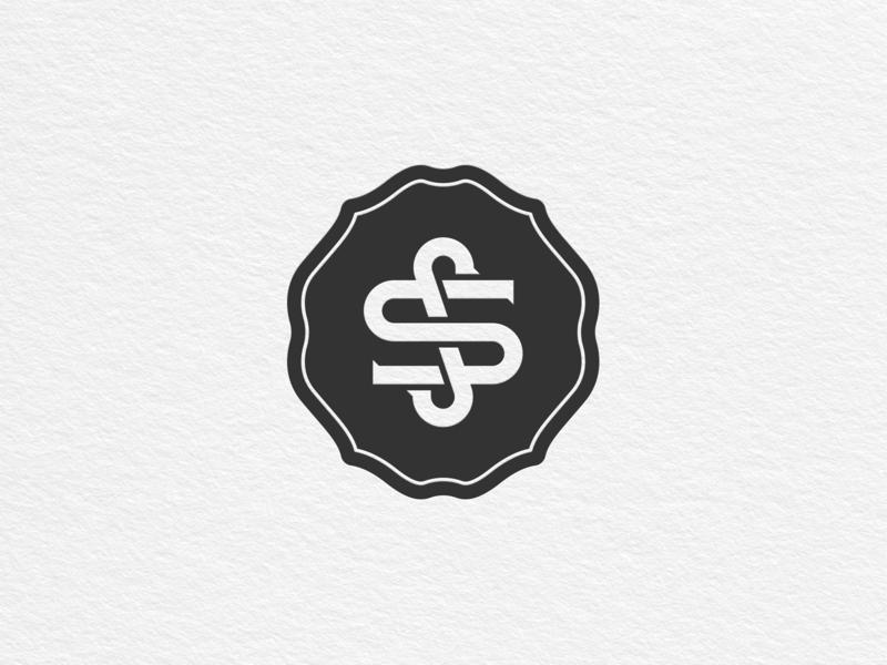 S&S Monogram logo vintage badge monogram ss