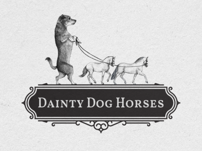 Dainty Dog Horses Logo Design