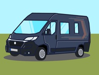 Günther The Van paint flat ducato fiat camper camping comic vanlife van