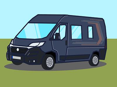 Günther The Van paint flat ducato fiat camper camping comic vanlife van