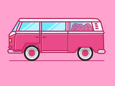 Dribbble VW Bus paint dribbble bus bulli volkswagen vw