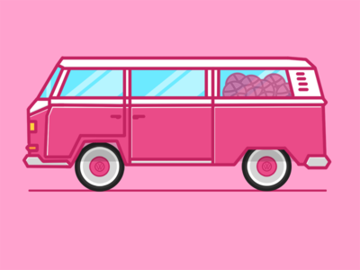 Dribbble VW Bus paint dribbble bus bulli volkswagen vw