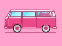 Dribbble VW Bus
