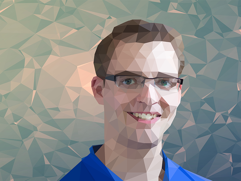 Polygon Portrait triangle low poly self portrait polygon poly