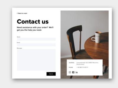 Contact form - DailyUI_028