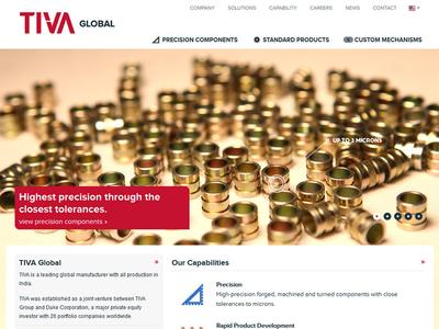 TIVA Global user interface corporate web design fullscreen modern ui ui design