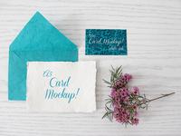 A5 White Card - A6 Pattern Card Mockup