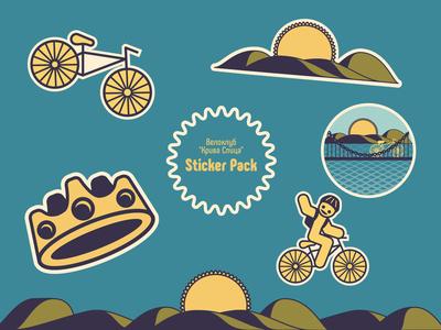 Sticker pack bike stickers sticker pack