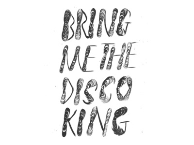 DISCO KING david bowie disco king brush calligraphy pentel brush pentel