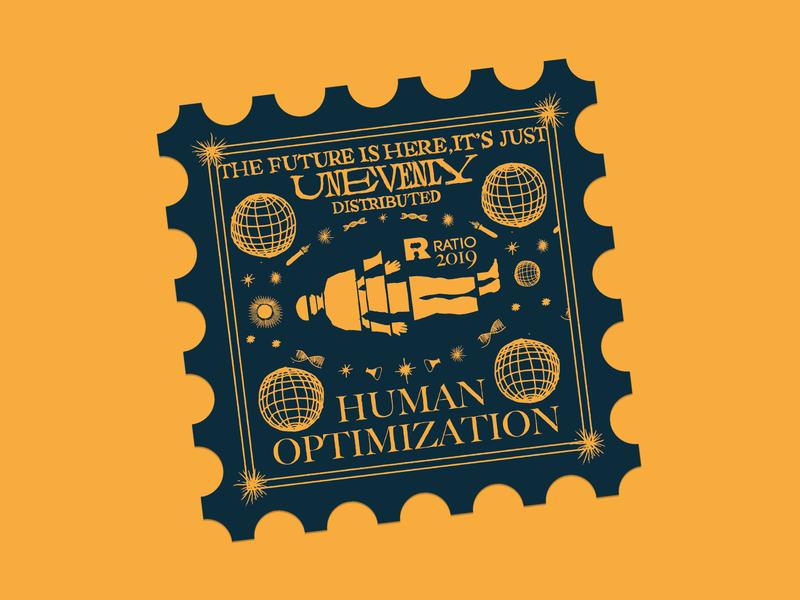 Human Optimization sticker human sticker