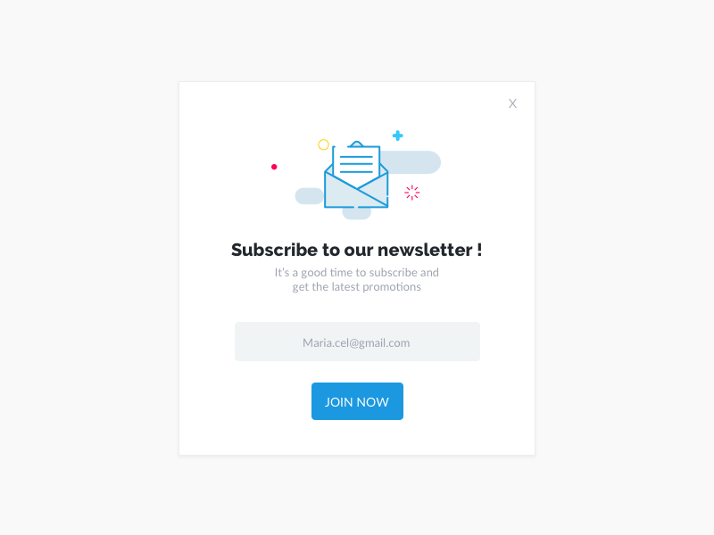 Subscribe Newsletter popup newsletter
