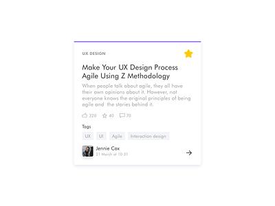 Card design news feed ideaboard card ui