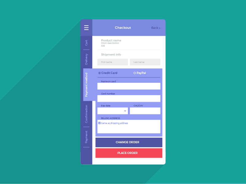 Daily Ui #002  app checkout credit card ui daily ui