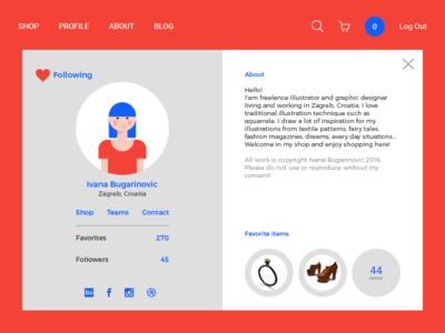 Daily Ui #006  illustration user profile daily ui