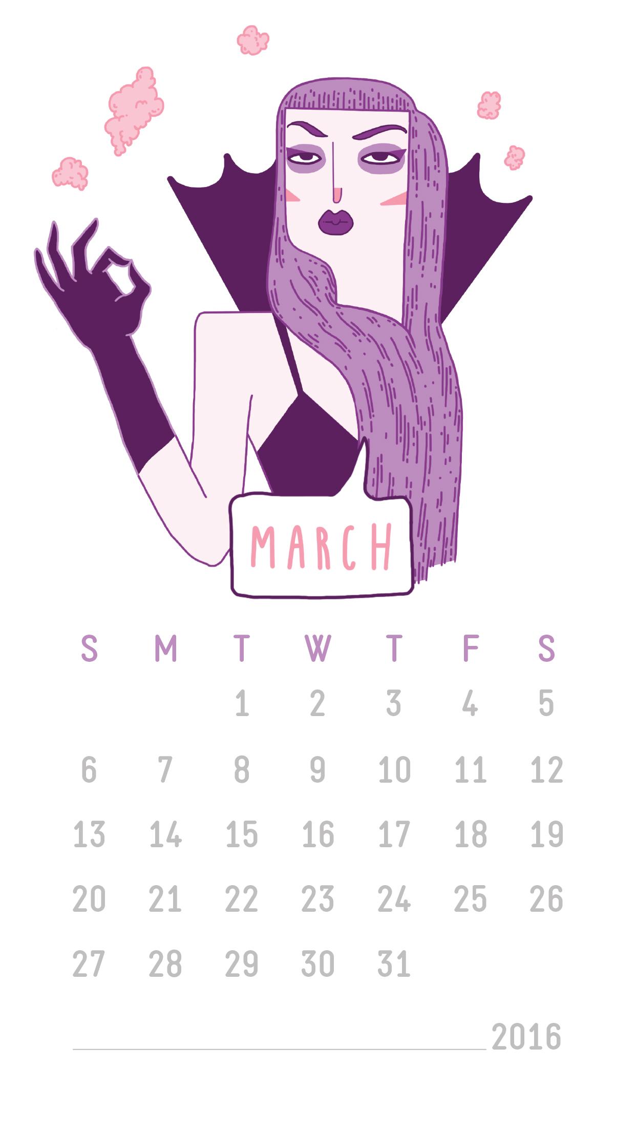 March wallpaper